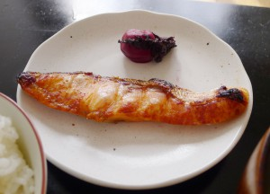 焼鮭と梅干